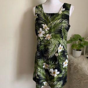 🌛Vintage 90s tropical square neck dress 🌛